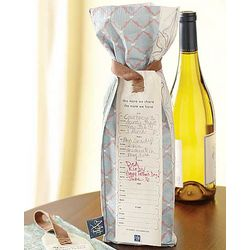 Reusable Handcrafted Wine Bag