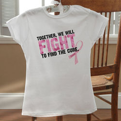 Fight To Find The Cure Personalized Fitted T-Shirt