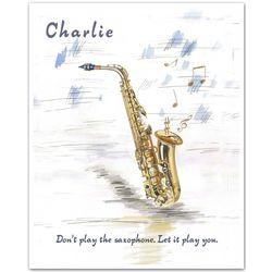 Saxophone Stylings Personalized Art Print