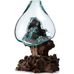 Molten Sculptural Blown-Glass Bowl