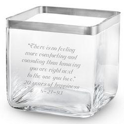 Savoy Platinum Rim Vase
