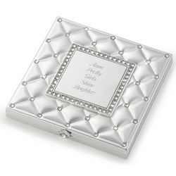 Frosted Elegance Compact Mirror