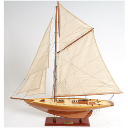 Wooden Scale Model Penduick Sailboat