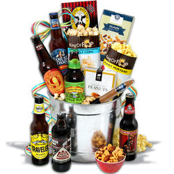 Men's Beer and More Holiday Gift Basket