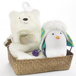 Polar Pals Newborn Baby Gift Basket