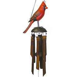 Cardinal Bamboo Wind Chime