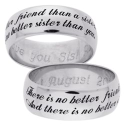 No Better Friend Than a Sister Sterling Silver Band
