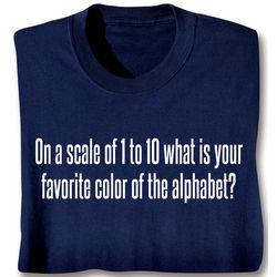 Favorite Color of the Alphabet Shirt