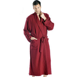 Pure Cashmere Bath Robe For Men