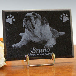Diamond Black Granite Indoor Outdoor 5x7 Memorial