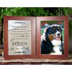 paw prints in the sand pet memorial frame for dog - Dog Memorial Frame