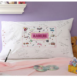 Personalized Signature Slumber Party Pillowcase