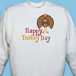 Personalized Happy Turkey Day Sweatshirt