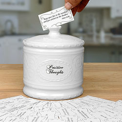 Positive Thoughts Jar with 365 Inspiring Sayings