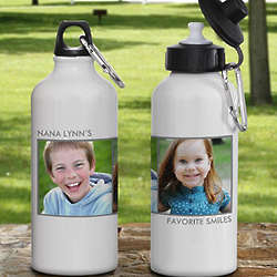 Picture Perfect Personalized Two Photo Water Bottle