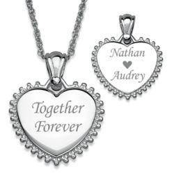 Together Forever Sunburst Heart Necklace