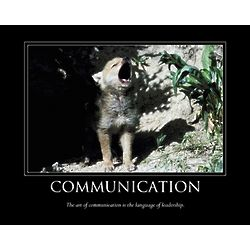 Communication Personalized Motivational Art Print