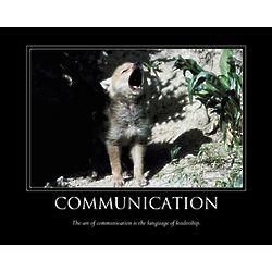 Communication Personalized Motivational Art Print