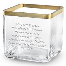 Savoy Gold Rim Vase