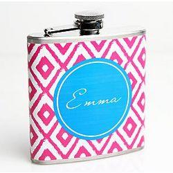 Personalized Ikat Flask