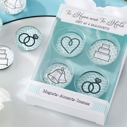 Glass Wedding Magnets Favors