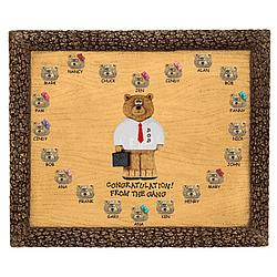 Personalized Businessman Bears on Plaque