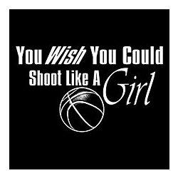 Shoot Like a Girl Basketball T-Shirt