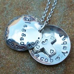 Blessed By Children Domed Locket Necklace