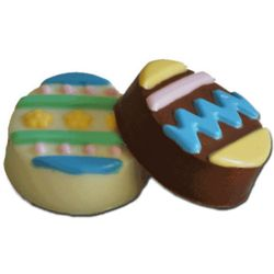 Chocolate Covered Easter Egg Shaped Oreo Cookies