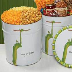 Hang in There 3-Way Popcorn Tin
