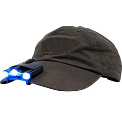 Clip on LED Flashlight for Baseball Cap or Visor