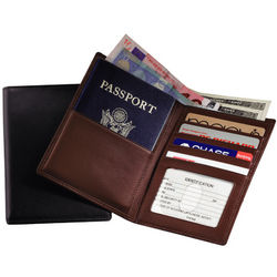 Royce Leather RFID Blocking Passport and Currency Wallet
