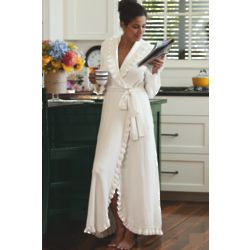Ruffled Chenille Robe