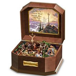 Thomas Kinkade Visions of Christ Wooden Music Box