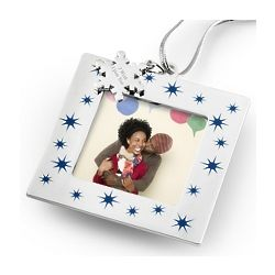 Blue Star Picture Frame Ornament