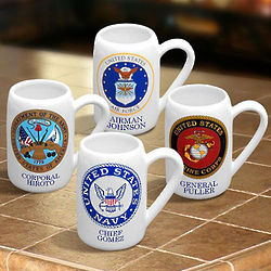 Personalized Military Stein