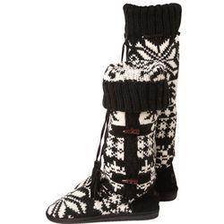 Ebony and Ivory Mukluk Slipper Boots