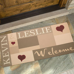 Welcoming Hearts Large Personalized Doormat