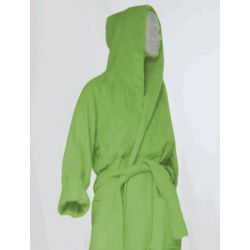 Lime Green Hooded Robe