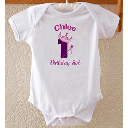 Personalized Birthday Princess Baby Bodysuit