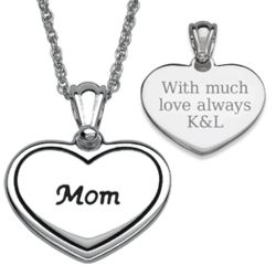 Silver Plated Mother's Heart Necklace