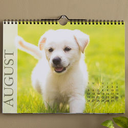 Any 12 Months Personalized Photo Wall Calendar