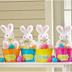 Personalized Easter Bunny Egg Hunt Bucket