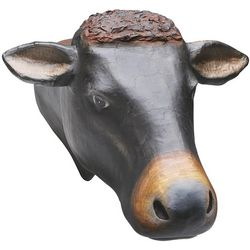 Paper Mache Cow Head Trophy
