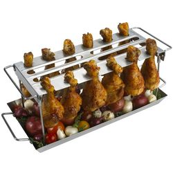 Anti-Flare-Up Grilled Chicken WingRack