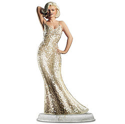 Happy Birthday from Marilyn Sculpture with Mosaic Dress