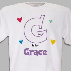 Personalized Heart Youth T-Shirt