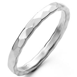 2mm Hammered Sterling Silver Ring