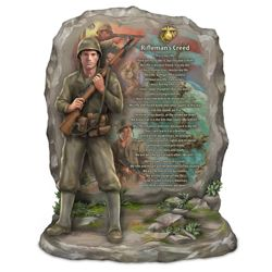 USMC Rifleman's Creed Sculpture with James Griffin Art