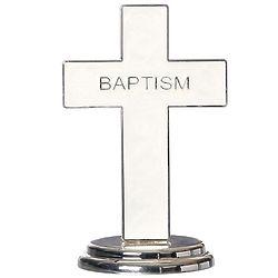 "Baptism 5.5"" Standing Cross"